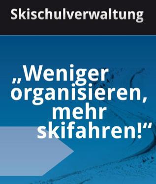 Skischulverwaltung Flyer